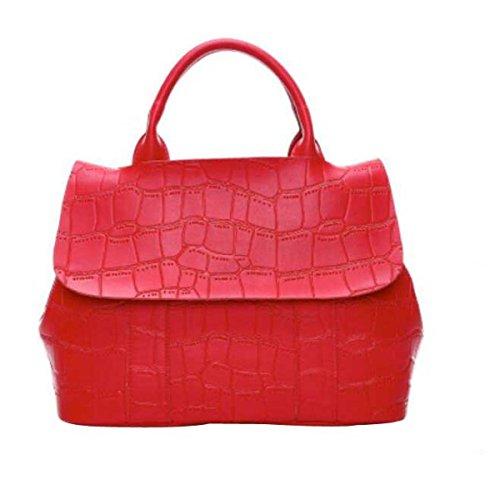Mujeres Moda Clásico Cuero Bolso Bolso Del Mensajero Red