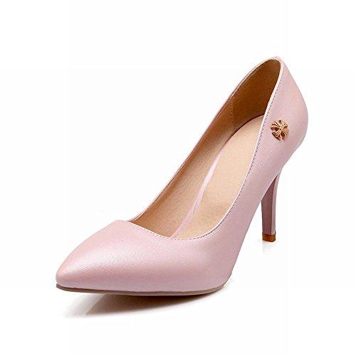 Carol Chaussures Élégance Femmes Croix En Métal Décorations Brassard Bout Pointu Chic Haut Talon Aiguilles Pompes Chaussures Rose
