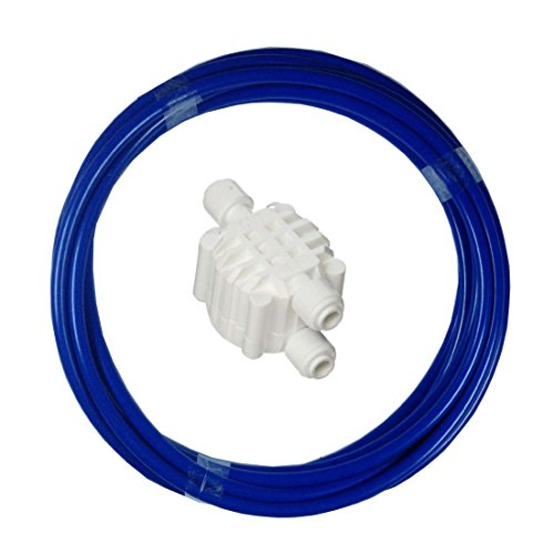 - Malida 1/4 Inch tube Automatic Shut Off Valve Push to Quick Connect Fittings For Reverse Osmosis Water Purifiers Filters (auto shut off +1/4