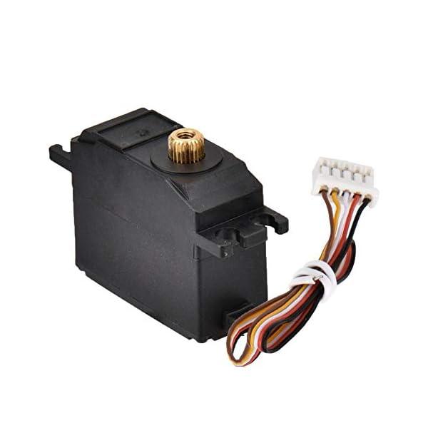 Drfeify Servo in Metallo per Auto RC,Servo in Metallo con Accessori Installazione per Wltoys 12428 12423 RC Auto 1 spesavip