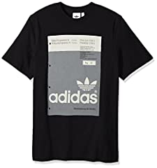 """An archival graphic is printed on the front of this men's cotton-knit t-shirt. The tee's image shows a colour swatch from the 1974 adidas archives. It features an oversize Trefoil logo and the tagline """"World famous for quality."""""""