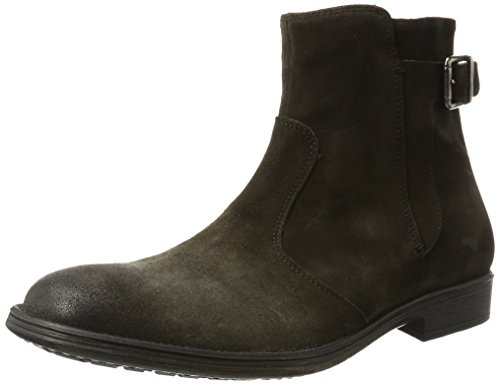 Geox Jaylon Buckle Mens Casual Moto Inspired Boots Mud oxdvA