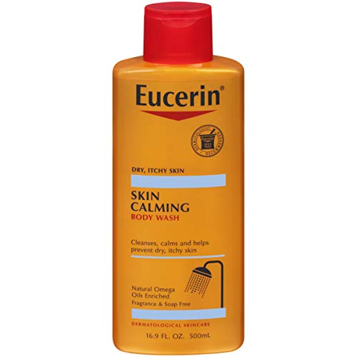 Eucerin Skin Calming Body Wash - Cleanses and Calms to Help Prevent Dry, Itchy Skin - 16.9 fl. oz. Bottle (Best Soap For Itchy Sensitive Skin)
