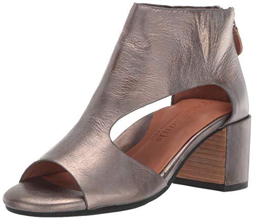 Pewter Peep Toe - Gentle Souls by Kenneth Cole Women's Charlene Peep Toe T-Strap Mid-Heeled Sandal Sandal, pewter, 7.5 M US