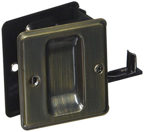 Cal Royal Antique Brass - Cal Royal SDL175 Passage Sliding Door Lock, Antique Brass