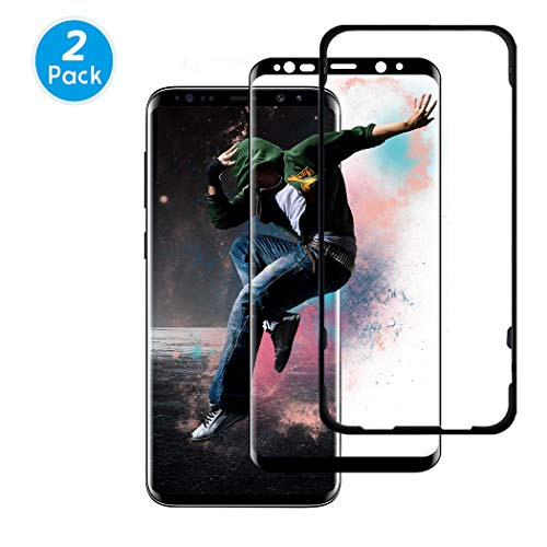 Besiva (2 Packs) Samsung Galaxy S9 Plus Screen Protector, Premium HD Clarity Edge to Edge Coverage Protection Tempered Glass Screen Protector for S9 Plus (Guidance Frame Included).