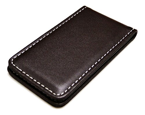 Fine Leather Magnetic Money Clip - Brown ()