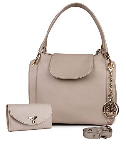 Classic Fashion Cream Color Handbag Combo for Women and Girls  Amazon.in   Shoes   Handbags 91179dae7c0ec