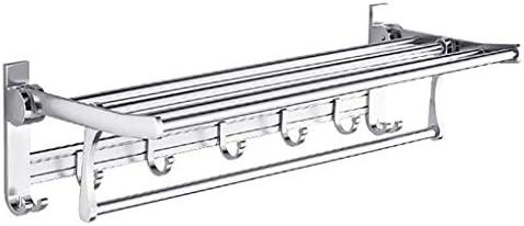 タオルラックバスルームタオルバーブラシをかけられたステンレス鋼モダンなバスルームアクセサリー壁掛け、エレガントなシルバー、複数のサイズ。