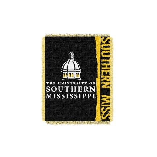 The Northwest Company NCAA Southern Mississippi Golden Eagles Double Play Jacquard Throw, 48