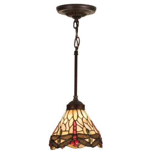 Dragonfly Tiffany Style Pendant Light Fixture in US - 9