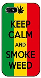 iPhone 5C Weed and dope - Keep calm and smoke weed - black plastic case / Verses, Inspirational and Motivational