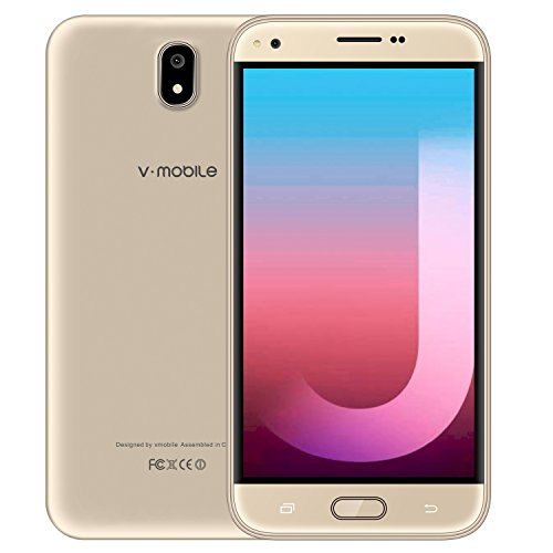 Unlocked Smartphone Cheap, Factory v mobile J5-N Cell Phones with 5.5 inch QHD Display|Android 7.0|Dual Sim + Micro SD Card|1GB RAM + 8GB ROM|2800 mAh Battery| Gold
