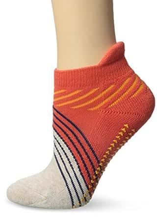 Pointe Studio Women's Sabrina Barre Yoga Cushioned Grip Socks, Orange, Small/Medium
