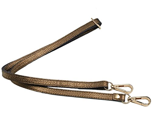 12MM Width Leather Adjustable Length Replacement Cross Body Purse Handbag Bag Shoulder Bag Wallet Strap (Bronze) ()