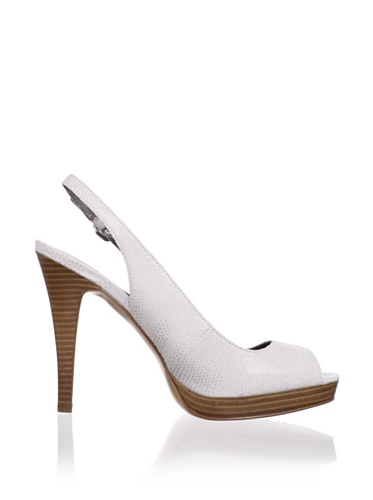 Calvin Klein Women Karissa Snake Sandals Leather Light Gray E3193 T8dlS7