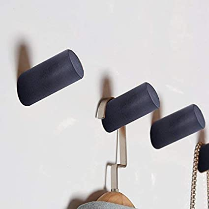 Schals Jacken 4 St/ück Holz Kleiderhaken Surethingz Holz Haken Holzfarbe Holzhaken zum Aufh/ängen von M/änteln Kleidung und Kopfh/örer im Schlafzimmer Wohnzimmer M/ützen Flur
