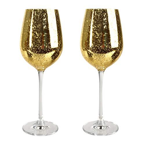 (Artland Rustica Gold Glass 17 Ounce Goblet, Set of 4)