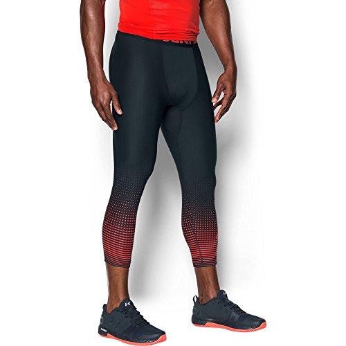 Under Armor Men's HeatGear Armour Graphic ¾ Leggings, Anthracite/Marathon Red, X-Large