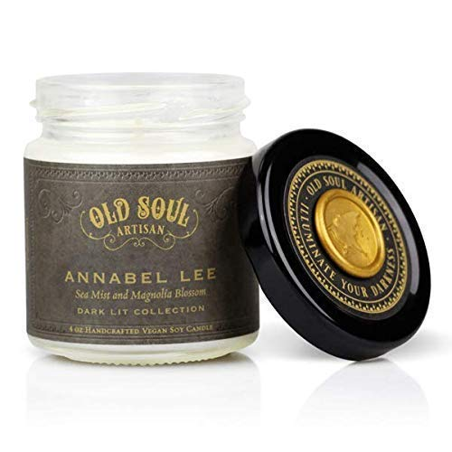 Annabel Lee - Sea Mist and Magnolia Candle Edgar Allan Poe Gothic Book Lover Gift Scented Soy - 4 oz