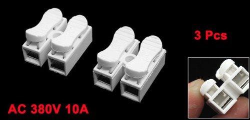 3 PC 5.5mm Paso 2 Pin 2P PCB Bloques primavera de terminales 10A 380V AC