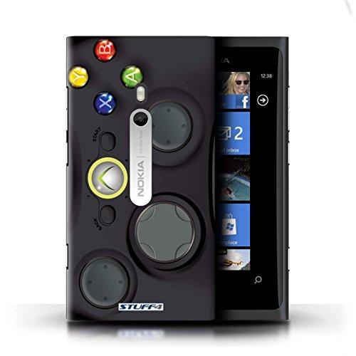 Kobalt® Imprimé Etui / Coque pour Nokia Lumia 800 / Noir Xbox 360 conception / Série Console (jeux vidéo)