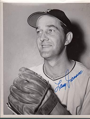 (Larry Jensen Signed/Autographed Giants 8X10 Photo 128562)