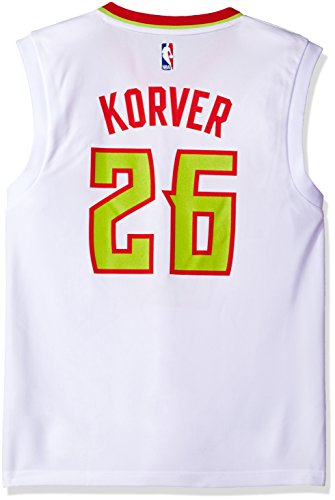 NBA Men's Atlanta Hawks Kyle Kover Replica Player Home Jersey, X-Large, White