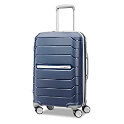 Travel Junkie 41%2BcMsGhY4L._SS247_ Samsonite Freeform Hardside Expandable with Double Spinner Wheels, Navy, Carry-On 21-Inch