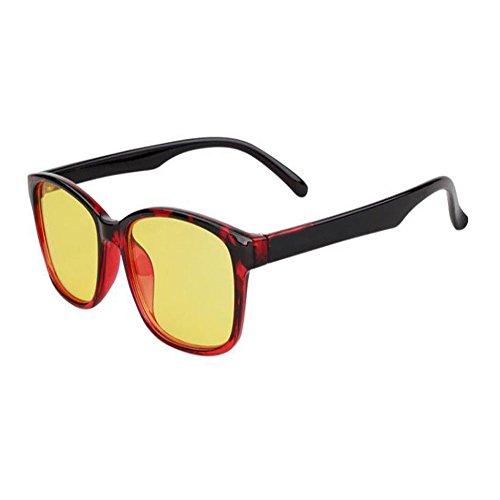 Gafas azul Anti Filtro los Claro Anti Eyewear Xinvision UV ojos de Moda luz Lente Rojo Hombre Computadora fatiga Retro Mujer Previniendo qICYwFS