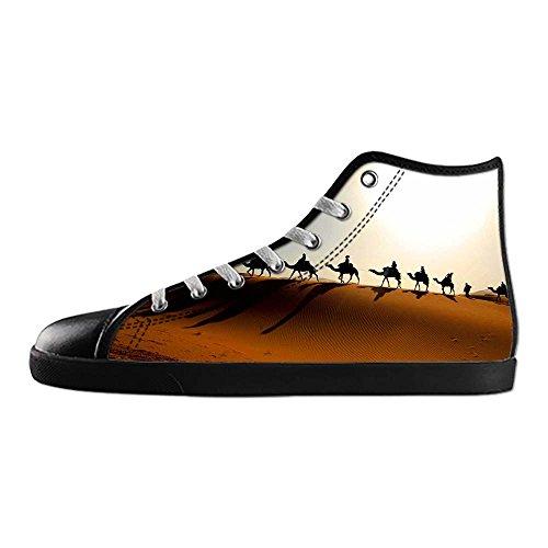 Dalliy sch?ne w¨¹stenlandschaft Mens Canvas shoes Schuhe Lace-up High-top Sneakers Segeltuchschuhe Leinwand-Schuh-Turnschuhe