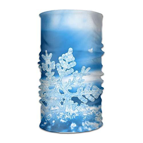 Snowflakes Bandana - Headbands Headwear Christmas Blue Snowflake Bandana Sweatband Neck Gaiter Head Wrap Outdoor Mask
