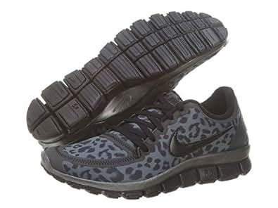 Nike Wmns Free 5.0 V4 Leopard - Dark Grey (511281-013) (5 B(M) US)