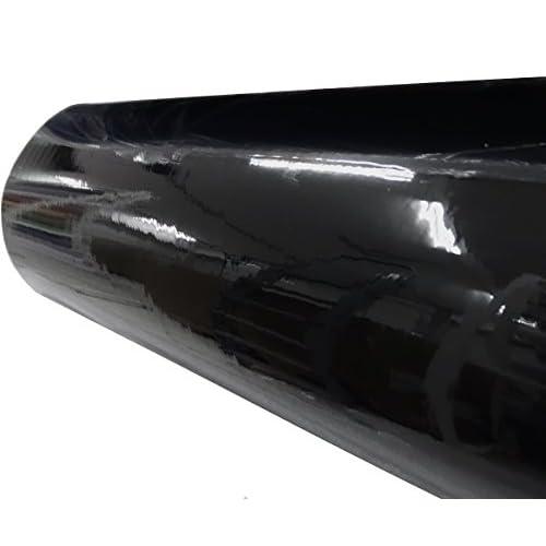 Aerzetix: 152/75cm film adhésif vinyle noir brillant thermoformable revêtement extérieur intérieur C17227 best
