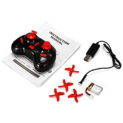 B bangcool Mini Drone, 5 yr Old Boy Gifts RC Nano Quadcopter - 2.4G 6 Axis with Altitude Hold Function, Headless Mode Remote Control,Gifts for Beginners & Kids(Red: Toys & Games