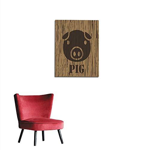 French Pork (longbuyer Wallpaper Pig Pork icon and Symbol Mural 24