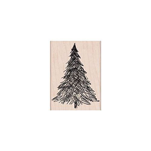 Hero Arts H5806 Woodblock Stamps, Pen and Ink Christmas Tree (Christmas Cards Stamps Rubber)
