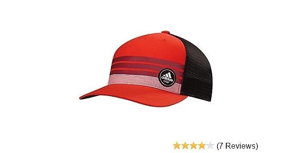8623106607aab Amazon.com   adidas Stripe Trucker Golf Hat Cap 2017 - BC7267 CORE RED    Clothing