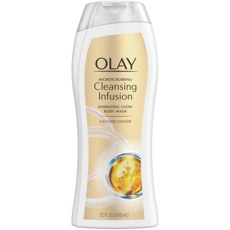 Olay Microscrubbing Cleansing Infusion Body Wash, Crushed Ginger, 22 oz - Ginger Infusion