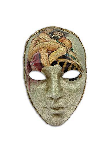 Venetian Full Face Mask Volto Artistico Michelangelo for Men and Women]()