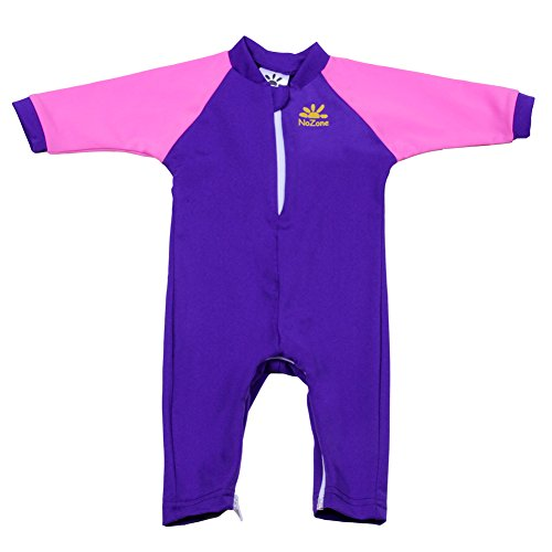 Nozone Fiji Sun Protective Baby Swimsuit In Purple/Preppy Pink, 0-6 Months