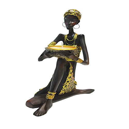 - Rockin Gear Statue African Figurine Sculpture Tribal Lady Figurine Statue Decor Collectible Art Piece 9