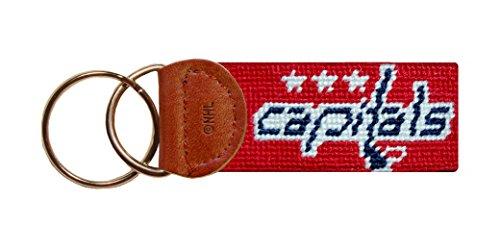 Smathers & Branson Hand-stitched NHL Team Needlepoint Key Fob - Capitals (F-Capitals)