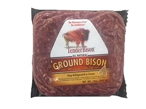 Buffalo 100% Ground Extra Lean 12 Oz. Bricks - Case of 12 by TenderBison
