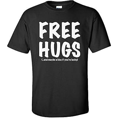 FREE HUGS Short Sleeve T-Shirt in Black