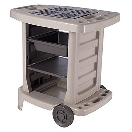 Suncast GC1500BTD Portable Outdoor Gardening Center With Interchangeable  Shelves, Tool Storage And Utility Bin,