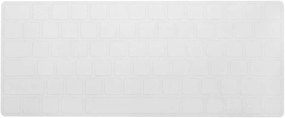 COOSKIN Silicone Colorful Keyboard Cover Protector Skin for Apple Magic Keyboard (MLA22LL/A), After 2015 November US Layout (Transparency)