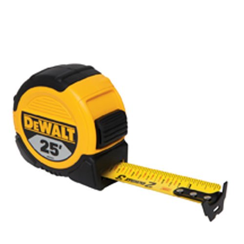 DEWALT DWHT33373L 1 1/8-Inch x 25-Foot Short Tape, 10-Foot Stand Out ()