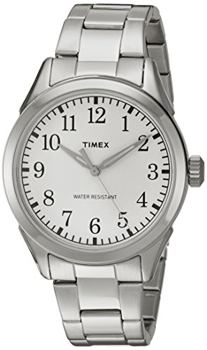 (Timex Men's TW2P99800 Briarwood Terrace Silver-Tone Stainless Steel Bracelet Watch)