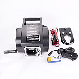 Sunny Car New Universal 5000LB Marine Boat Electric Winch 12V Steel Cable Rope Towing Kit